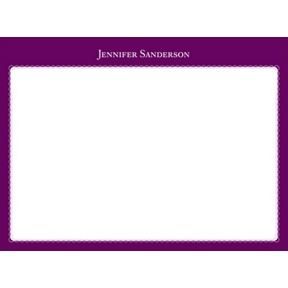 Two Tones -- Personalized Note Card
