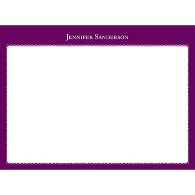 Two Tones Personalized Note Card