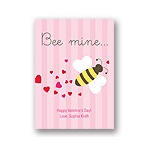Bee Mine -- Kid's Valentine's Day Card