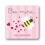 Bee Mine -- Valentine's Personalized Stickers