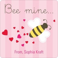 Bee Mine Valentine's Personalized Stickers