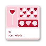 Sweet Love -- Valentine's Day Personalized Stickers