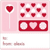 Sweet Love Valentine's Day Personalized Stickers
