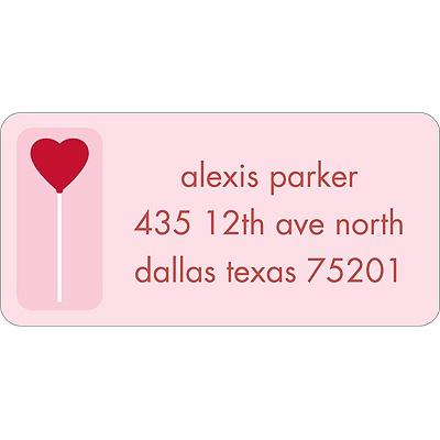 Sweet Love Valentine's Day Address Label