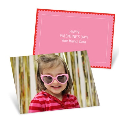 Photo Op Horizontal Valentine's Day Cards for Kids