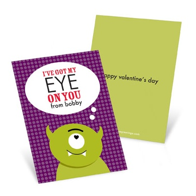 Eye on You  Valentine's Day Cards for Kids