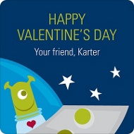 Out of this World Valentine's Day Gift Tag