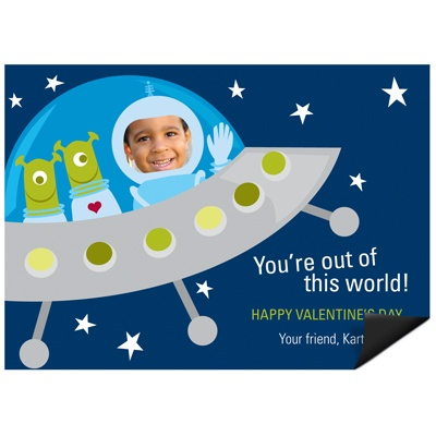 Out of this World -- Kid's Valentine's Day Magnet
