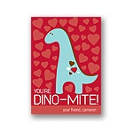 Dino-Mite -- Kid's Valentine's Day Card