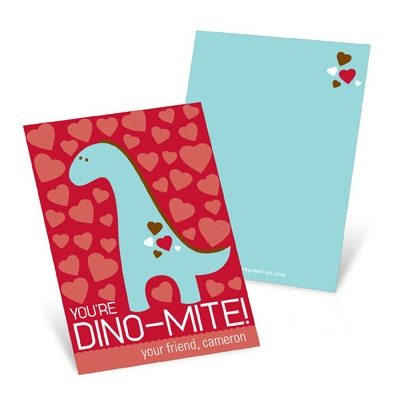 Dino-Mite --  Valentine's Day Cards for Kids