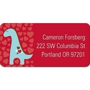 Dino-Mite -- Valentine's Day Address Label