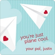 Plane Cool Valentine's Day Personalized Stickers