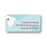 Plane Cool -- Valentine's Day Address Label