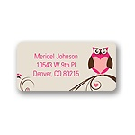 Owl Be -- Valentine's Day Address Label