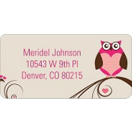 Owl Be Valentine's Day Address Label