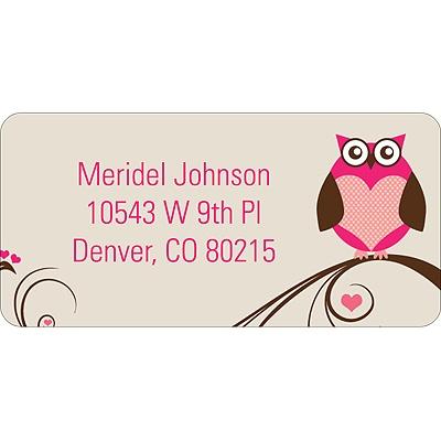 Owl Be Valentine's Day Address Label