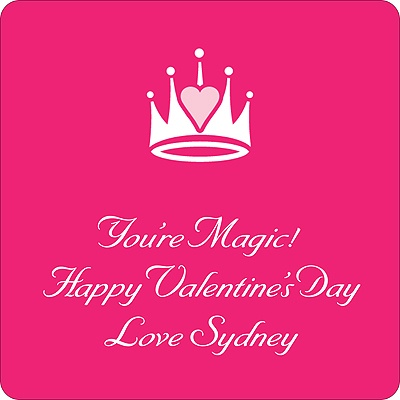 Magical Valentine's Day Personalized Stickers