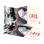 Fancy Love -- Pink Photo Valentine's Day Card