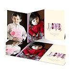 Fancy Love -- Purple Photo Valentine's Day Card