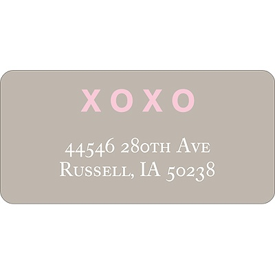 XOXO -- Valentine's Day Address Label