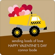 Loading Zone Valentine's Day Personalized Stickers