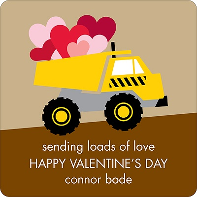Loading Zone -- Valentine's Day Personalized Stickers