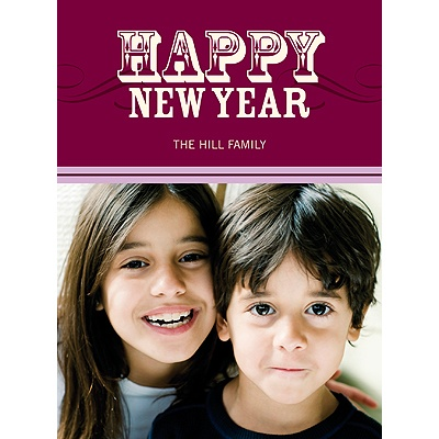 Simply Happy -- Purple Happy New Year Card