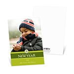 Solid Greetings -- Green Happy New Year Card