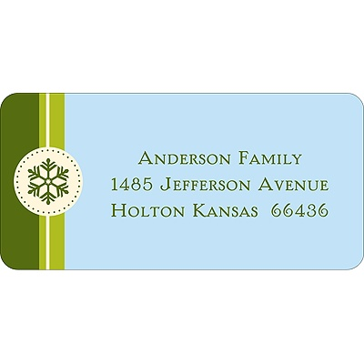 Solid Greetings -- Green Address Label