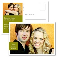 Picture Perfect Horizontal Save the Date Postcard