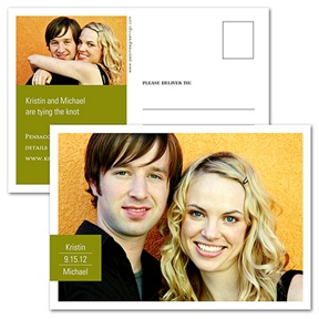 Picture Perfect -- Horizontal Save the Date Postcard