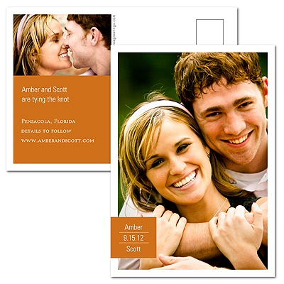 Picture Perfect Vertical Save the Date Postcard