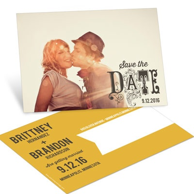 Fancy Save the Date Postcards