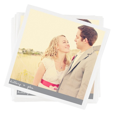 Newlywed Banner -- Personalized Photo Napkins