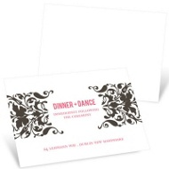 Divine Damask Reception Cards