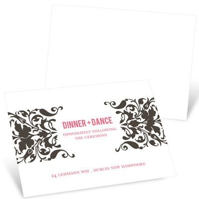 Divine Damask Reception Cards