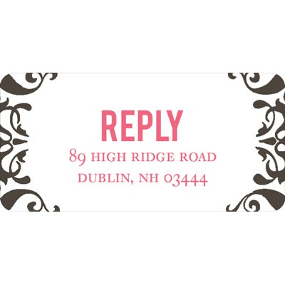 Divine Damask -- Wedding Address Labels