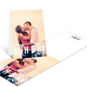 Divine Damask -- Wedding Thank You Cards