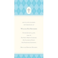 Blue Faith Baptism Invitations