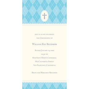 Blue Faith -- Baptism Invitations