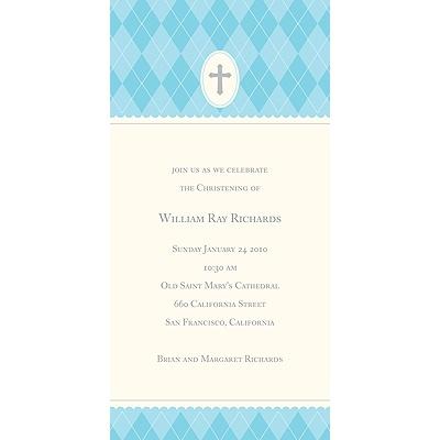 Blue Faith Baptism Invitations