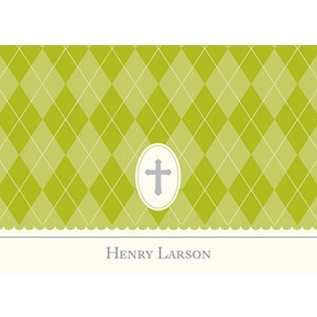 Faith -- Green Personalized Note Card