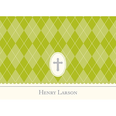 Faith Green Personalized Note Card