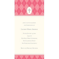 Pink Faith Baptism Invitations