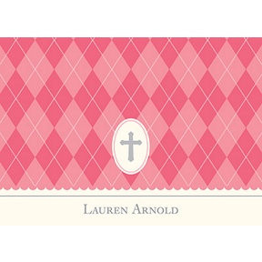 Faith -- Pink Personalized Note Card