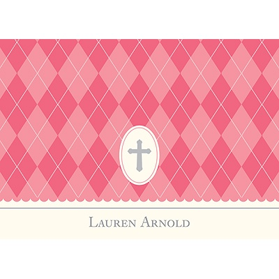 Faith Pink Personalized Note Card