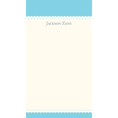 Simplicity -- Blue Personalized  Note Cards
