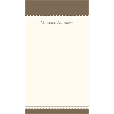 Simplicity -- Brown Personalized  Note Cards