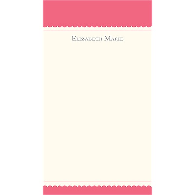 Simplicity -- Pink Personalized  Note Cards