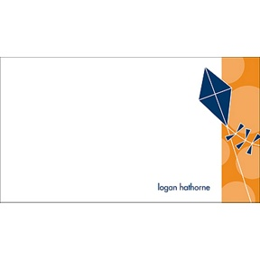Time to Soar -- Blue Personalized Note Card